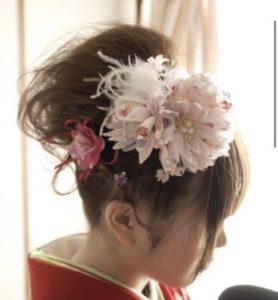 髪に花をさす夢